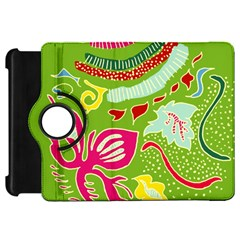 Green Organic Abstract Kindle Fire Hd Flip 360 Case by DanaeStudio