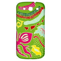 Green Organic Abstract Samsung Galaxy S3 S Iii Classic Hardshell Back Case by DanaeStudio
