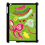 Green Organic Abstract Apple iPad 3/4 Case (Black) Front