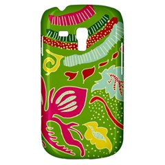 Green Organic Abstract Samsung Galaxy S3 Mini I8190 Hardshell Case by DanaeStudio