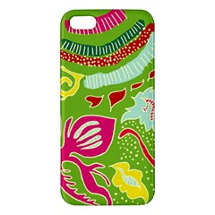Green Organic Abstract Apple Iphone 5 Premium Hardshell Case by DanaeStudio