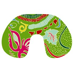 Green Organic Abstract Travel Neck Pillows