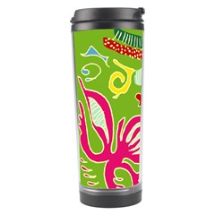 Green Organic Abstract Travel Tumbler by DanaeStudio