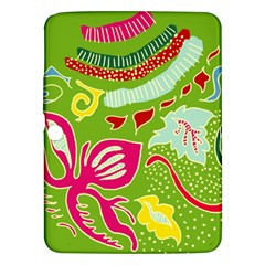 Green Organic Abstract Samsung Galaxy Tab 3 (10 1 ) P5200 Hardshell Case  by DanaeStudio