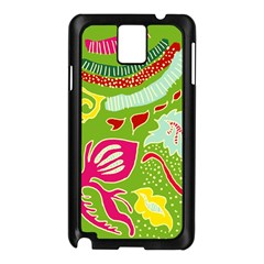 Green Organic Abstract Samsung Galaxy Note 3 N9005 Case (black) by DanaeStudio