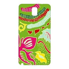 Green Organic Abstract Samsung Galaxy Note 3 N9005 Hardshell Back Case by DanaeStudio