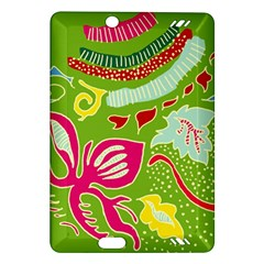 Green Organic Abstract Amazon Kindle Fire Hd (2013) Hardshell Case by DanaeStudio