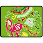 Green Organic Abstract Double Sided Fleece Blanket (Large)  80 x60 Blanket Front