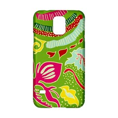 Green Organic Abstract Samsung Galaxy S5 Hardshell Case  by DanaeStudio