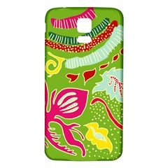 Green Organic Abstract Samsung Galaxy S5 Back Case (white) by DanaeStudio