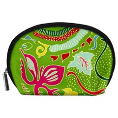 Green Organic Abstract Accessory Pouches (Large)
