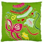 Green Organic Abstract Large Flano Cushion Case (One Side) Front