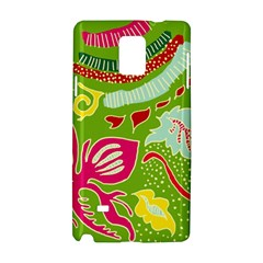 Green Organic Abstract Samsung Galaxy Note 4 Hardshell Case by DanaeStudio