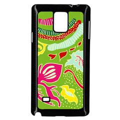 Green Organic Abstract Samsung Galaxy Note 4 Case (black) by DanaeStudio