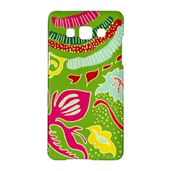 Green Organic Abstract Samsung Galaxy A5 Hardshell Case  by DanaeStudio