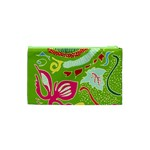Green Organic Abstract Cosmetic Bag (XS) Back