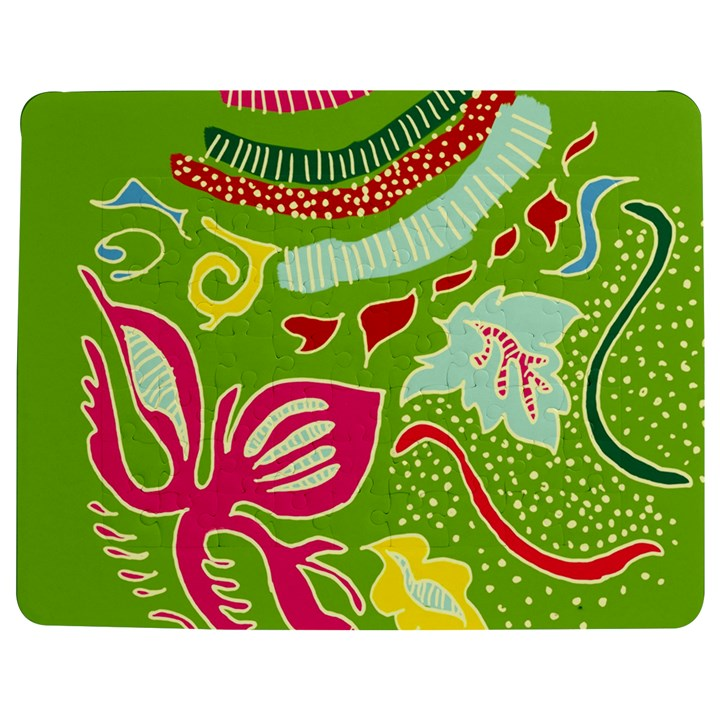 Green Organic Abstract Jigsaw Puzzle Photo Stand (Rectangular)