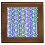 Colorful Retro Geometric Pattern Framed Tiles Front
