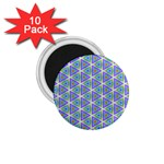 Colorful Retro Geometric Pattern 1.75  Magnets (10 pack)  Front