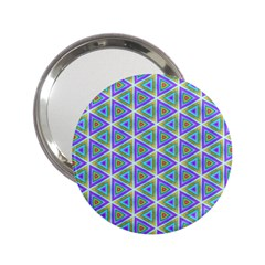 Colorful Retro Geometric Pattern 2 25  Handbag Mirrors