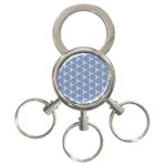 Colorful Retro Geometric Pattern 3-Ring Key Chains Front
