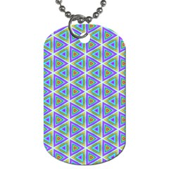 Colorful Retro Geometric Pattern Dog Tag (one Side) by DanaeStudio