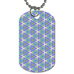 Colorful Retro Geometric Pattern Dog Tag (One Side) Front