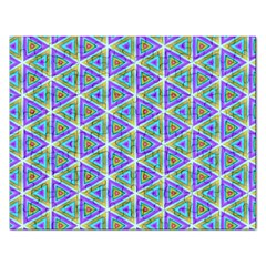 Colorful Retro Geometric Pattern Rectangular Jigsaw Puzzl