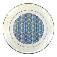 Colorful Retro Geometric Pattern Porcelain Plates