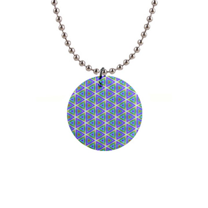 Colorful Retro Geometric Pattern Button Necklaces