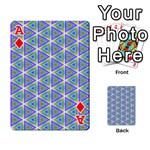 Colorful Retro Geometric Pattern Playing Cards 54 Designs  Front - DiamondA
