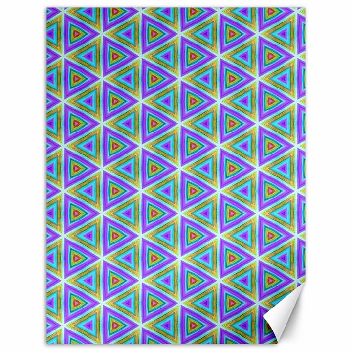 Colorful Retro Geometric Pattern Canvas 12  x 16