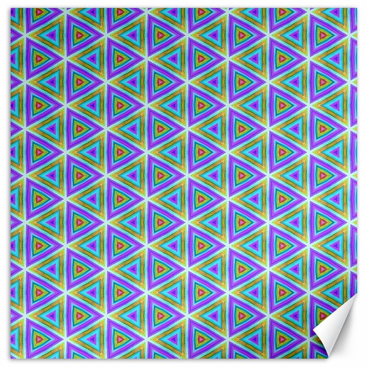 Colorful Retro Geometric Pattern Canvas 20  x 20