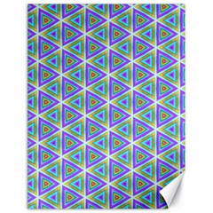 Colorful Retro Geometric Pattern Canvas 18  X 24