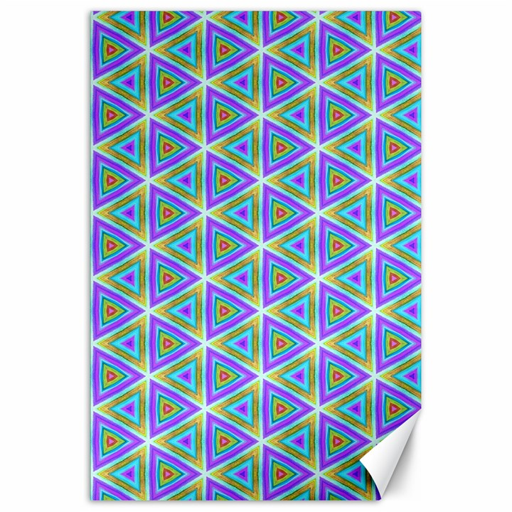 Colorful Retro Geometric Pattern Canvas 20  x 30