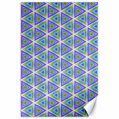 Colorful Retro Geometric Pattern Canvas 24  X 36  by DanaeStudio