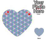 Colorful Retro Geometric Pattern Playing Cards 54 (Heart)  Front - Heart8