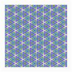 Colorful Retro Geometric Pattern Medium Glasses Cloth