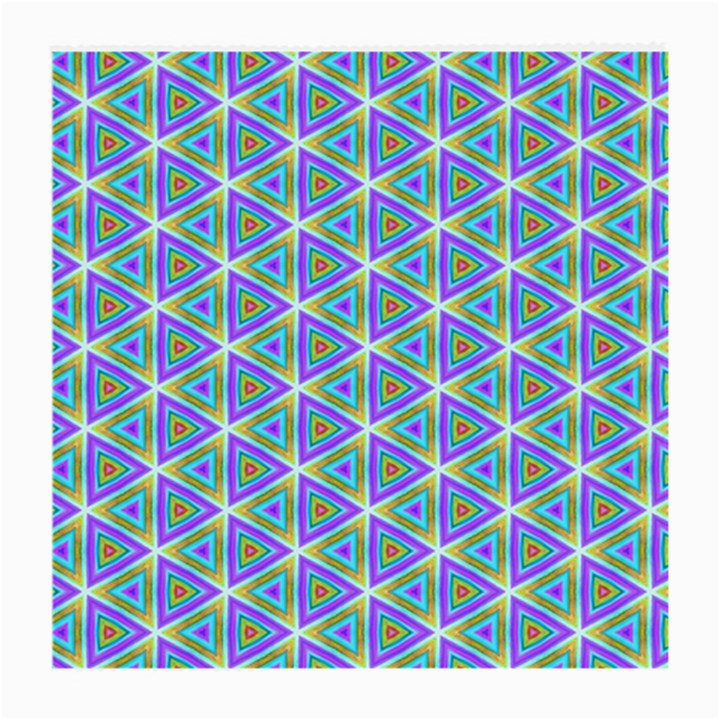 Colorful Retro Geometric Pattern Medium Glasses Cloth (2-Side)