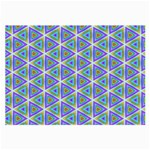 Colorful Retro Geometric Pattern Large Glasses Cloth (2-Side) Front