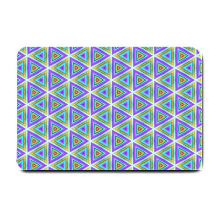 Colorful Retro Geometric Pattern Small Doormat
