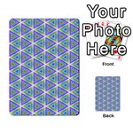 Colorful Retro Geometric Pattern Multi-purpose Cards (Rectangle)  Frontback