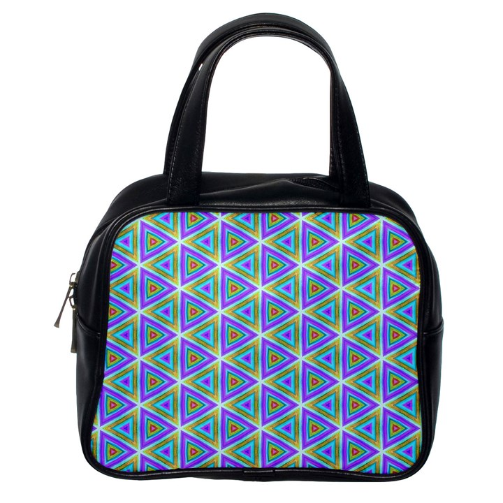 Colorful Retro Geometric Pattern Classic Handbags (One Side)