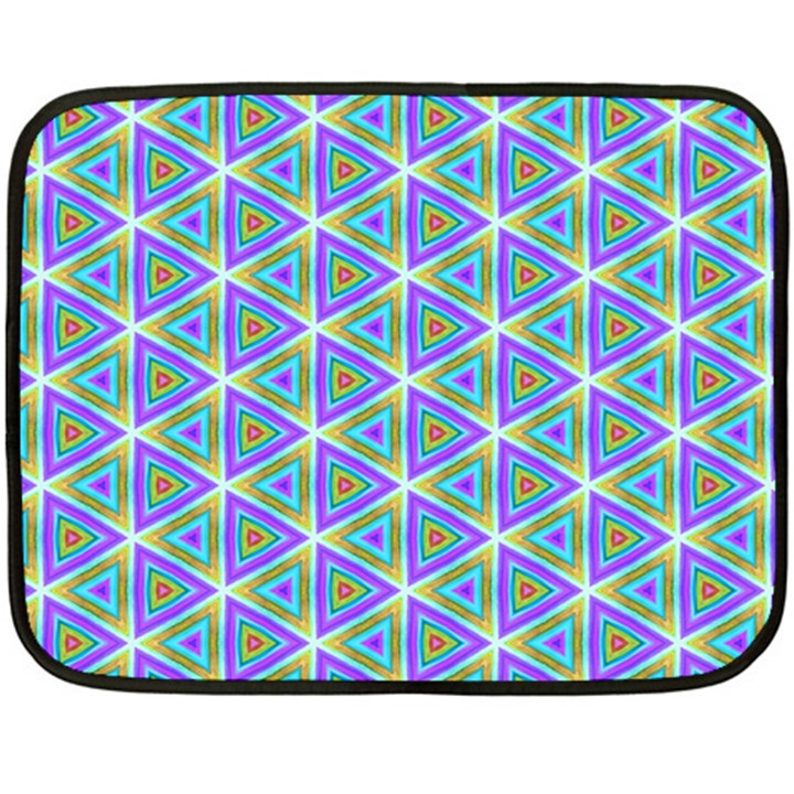 Colorful Retro Geometric Pattern Fleece Blanket (Mini)