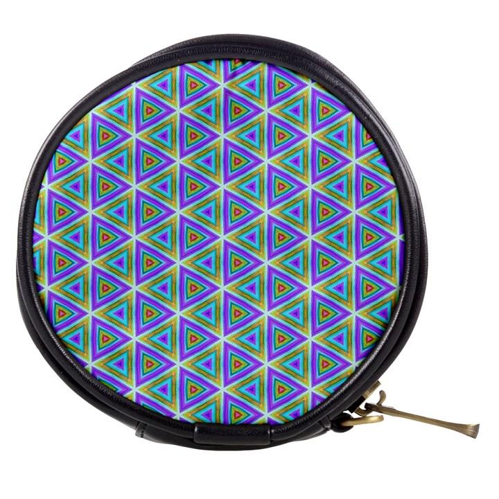 Colorful Retro Geometric Pattern Mini Makeup Bags