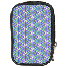 Colorful Retro Geometric Pattern Compact Camera Cases