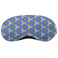 Colorful Retro Geometric Pattern Sleeping Masks