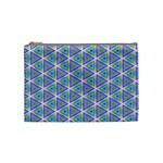 Colorful Retro Geometric Pattern Cosmetic Bag (Medium)  Front