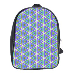 Colorful Retro Geometric Pattern School Bags(large)  by DanaeStudio