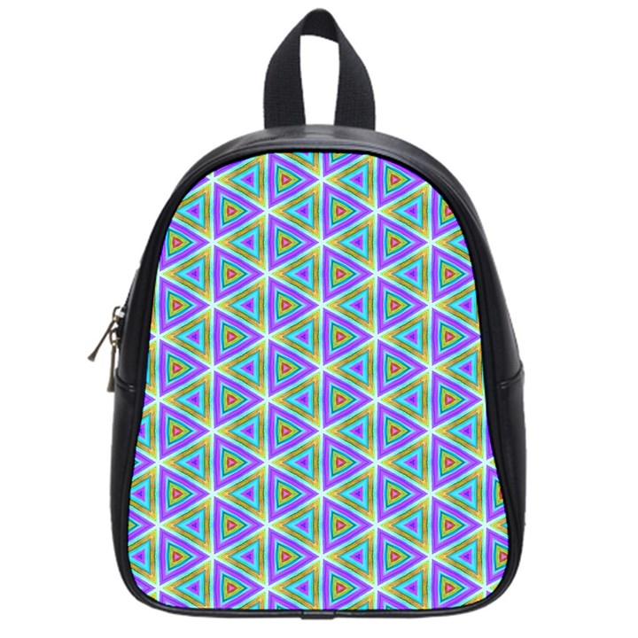 Colorful Retro Geometric Pattern School Bags (Small)